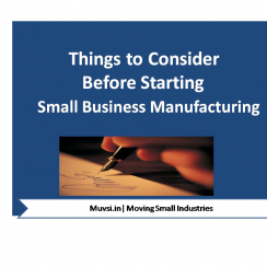 small business manufacturing -things to consider