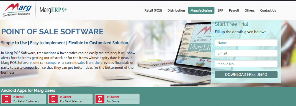 Marg Retail Management Software