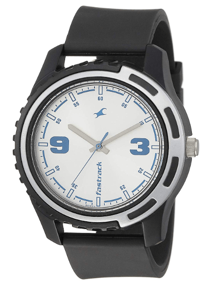 fastrack analog siver watch