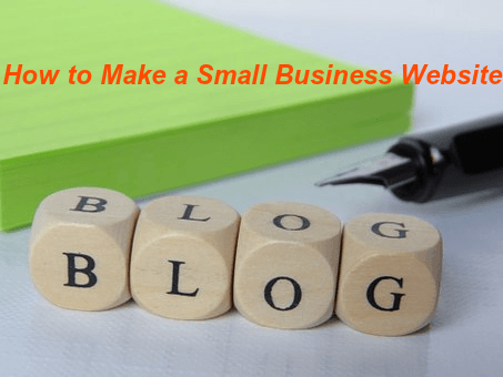how to make a small business website in India